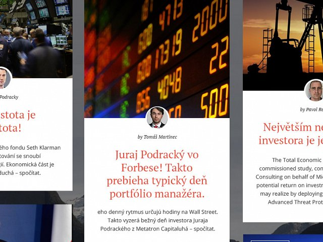 Financial Experts - Online Portfolio Website for Metatron Capital - Czech Republic / Finance